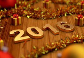 Обои Новый Год, праздник, подарки, 2016, игрушки