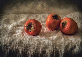 Обои Хурма, сладкая, фрукты, натюрморт