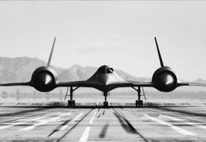 Обои Lockheed, SR-71, Blackbird, стратегический, сверхзвуковой, разведчик