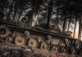 Обои танк, оружие, дуло, гусеницы, башня