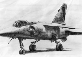 Обои истребитель, самолет, армия, рисунок, крылья