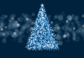 Обои елка, огни, новый год, фон, украшения