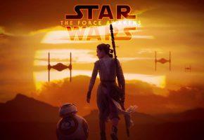 Обои Star Wars VII The Force Awakens, Звездные войны, закат, солнце, фантастика