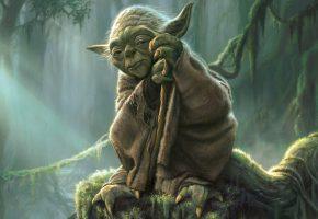 Обои Star Wars, Yoda, Йода, Магистр, Джедай