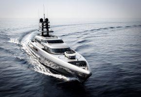 Обои Яхта, море, автомобиль, палуба
