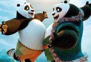 Обои Кунг-фу Панда 3, Kung Fu Panda 3, мультфильм, По, панды, радость, встреча, счастье