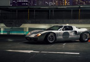 Обои Ford, GT40, supercar, Форд, ночь