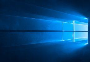 Обои Windows, 10, Microsoft, Software, Rendering, Wall, Wallpaper, окошки