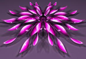 Обои цветок, лепестки, шарик, фон