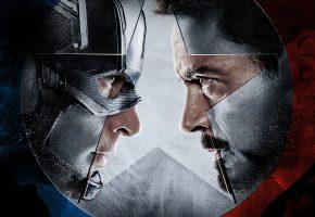 Обои Captain America, Civil War, Film, Капитан Америка, железный человек