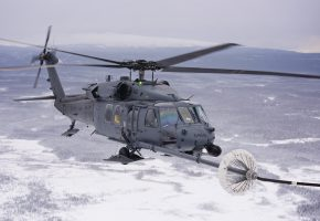 Обои HH-60G, Pave Hawk, вертолет, дозаправка