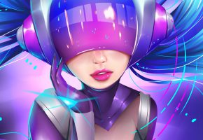 Обои League of Legends, LOL, Sona, Maven of the Strings, Girl, Девушка