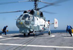 Обои Вмф, Ка-27, вертолет, винт, палуба
