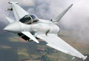 Обои EF2000, истребитель, облака, полет, крылья