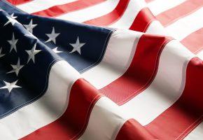 Обои flag, USA, флаг, Америка, звезды, ткань