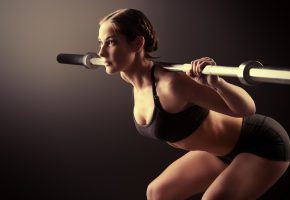 Обои woman, fitness, pose, девушка, фитнес, гриф, поза, тело