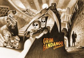 Обои Grim Fandango, remastered, scythe, adventure, games, смерть, косса