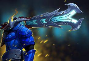 Обои Sven, The Rogue Knight, Dota 2, sword, воин, меч