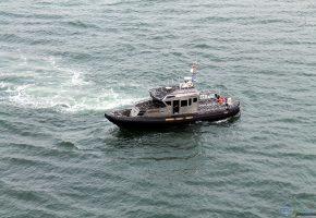Обои катер, патруль, вода, oboitut.com, шериф, волны, океан