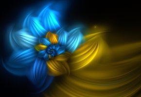 Обои цветы, космос, мечты