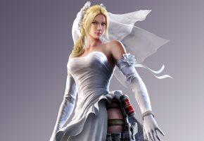 Обои Tekken, Нина Уильямс, девушка, фота, платье