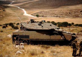 Обои Израель, Меркава, Танк, Броня, Защита, Пустыня