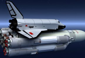 Обои Энергия, Буран, СССР, космос, звёзды, ракета, челнок, наука, техника