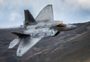 Обои F-22, Raptor, самолёт, оружие, полет, кабина, крылья
