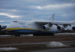Обои ан-225, мрия, самолёт, большой, грузовой, украина