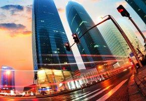 Обои Houses, Roads, Гонконг, небоскребы, движение, дорога, светофор