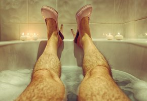 Обои ноги, ванна, фон, туфли, свечи
