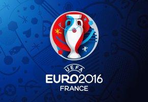 Обои euro, 2016, france, football, logo, футбол