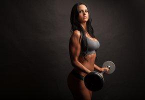 Обои sport, девушка, фитнес, модель, мышцы, фигура