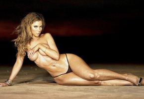 Обои Лaурa Дoрe, бюст, model, lаurа, фигура, мокрая, красавица