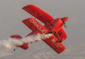 Обои самолет, полет, ретро, классика, пилотаж