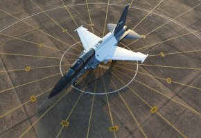 Обои учебно-боевой, самолёт, аэродром, крылья