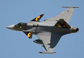 Обои Gripen, многоцелевой, истребитель, бомбардировщик, полет