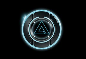 Обои AIMP, Logo, Hi-Tech, Black, Minimalism, Music