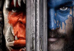 Обои Warcraft, 2016, Варкрафт, poster, фэнтези, боевик, adventure, Ben Foster, Paula Patton, Dominic Cooper