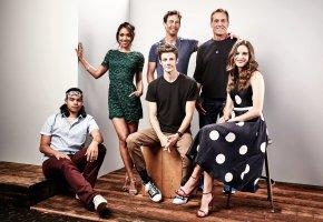 Обои The Flash, Grant Gustin, Candice Patton, Danielle Panabaker, Carlos Valdes, Jesse L.Martin, Thomas Cavanagh, сериал