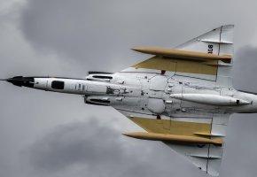 Обои C-408, самолёт, оружие, крылья, полет