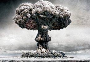 Обои взрыв, ядерный, clowns, nuclear, облако, гриб