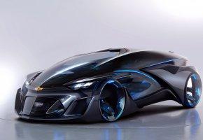 Обои Chevrolet, Тюнинг, Черный, 2015, FNR