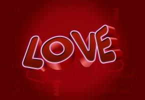 Обои 3d, love, любовь, надпись, фон