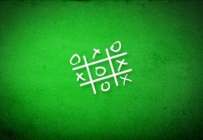 Обои нолики, крестики, зелёный, фон, текстуры, игра