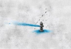 Обои арт, вода, обои, кран, Минимализм, креатив