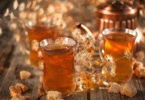 Обои чай, сахар, напиток, ромашка