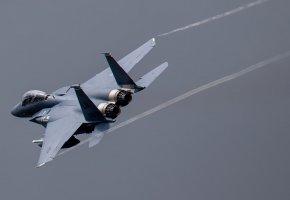 Обои F15, самолёт, оружие, полёт, сопла