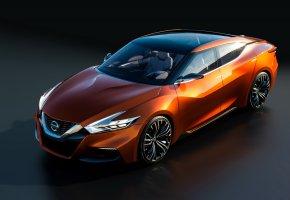 Обои Nissan, Оранжевый, 2014, Sport