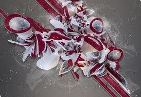 Обои dark, white, red, abstract, абстракция, узор